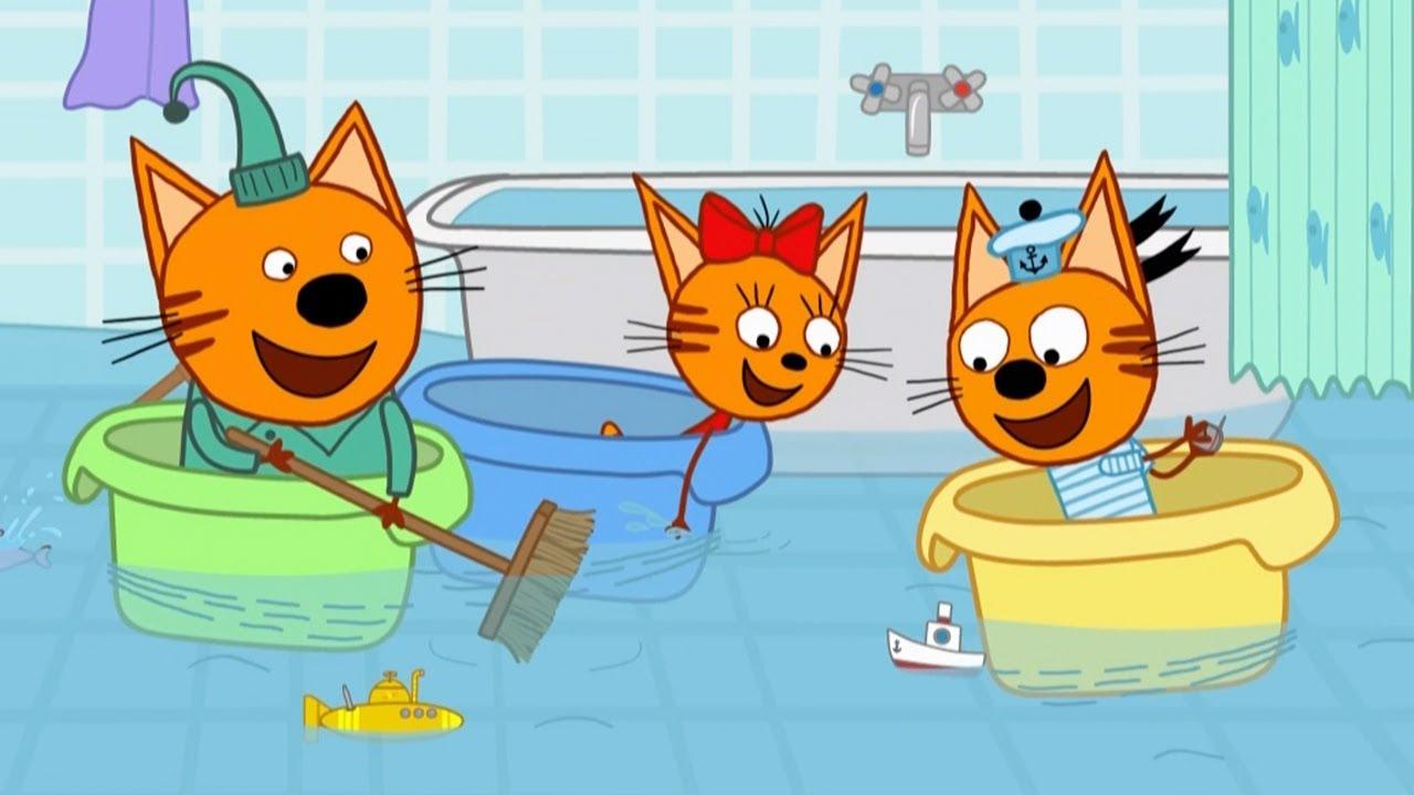 Три кота | Серия 129 | Морские игры | Мультфильмы для детей ????????????
