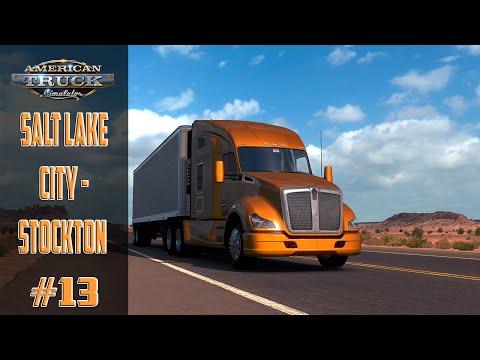 American Truck Simulator #13 Salt Lake City   Stockton Map Moddé ! PC !