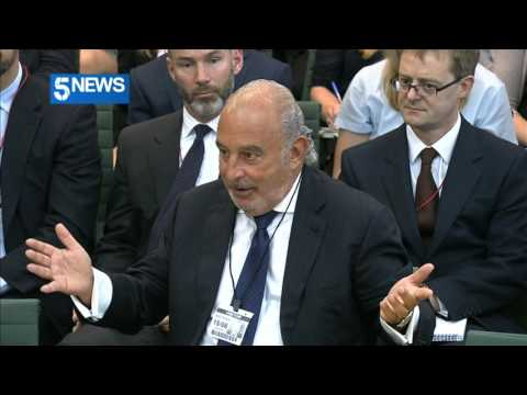 Philip Green tells MP to stop staring at him