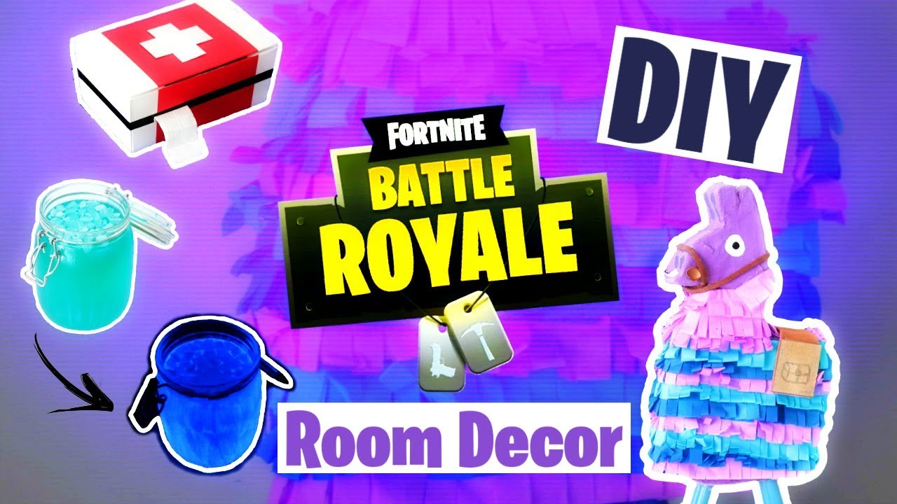 DIY FORTNITE Room Decor : Llama, Potion & Medkit (français)