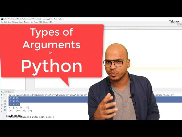 #34 Python Tutorial for Beginners | Types of Arguments in Python
