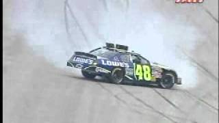 2006 Neighborhood 400 Qualifying - Jimmie Johnson Spins And Amazing Save