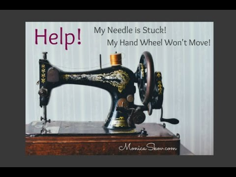 Help My Needle Hand Wheel Are Stuck Sewing Machine Jammed Extraordinary Sewing Machine Won T Stitch
