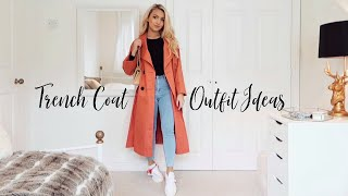 SPRING OUTFIT IDEAS WITH A TRENCH COAT! LOOKBOOK 2020