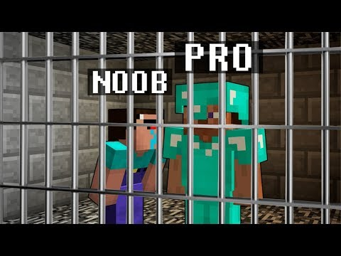 Minecraft Noob vs. Pro : PRISON ESCAPE JAILBREAK challenge 3 - Minecraft Battle