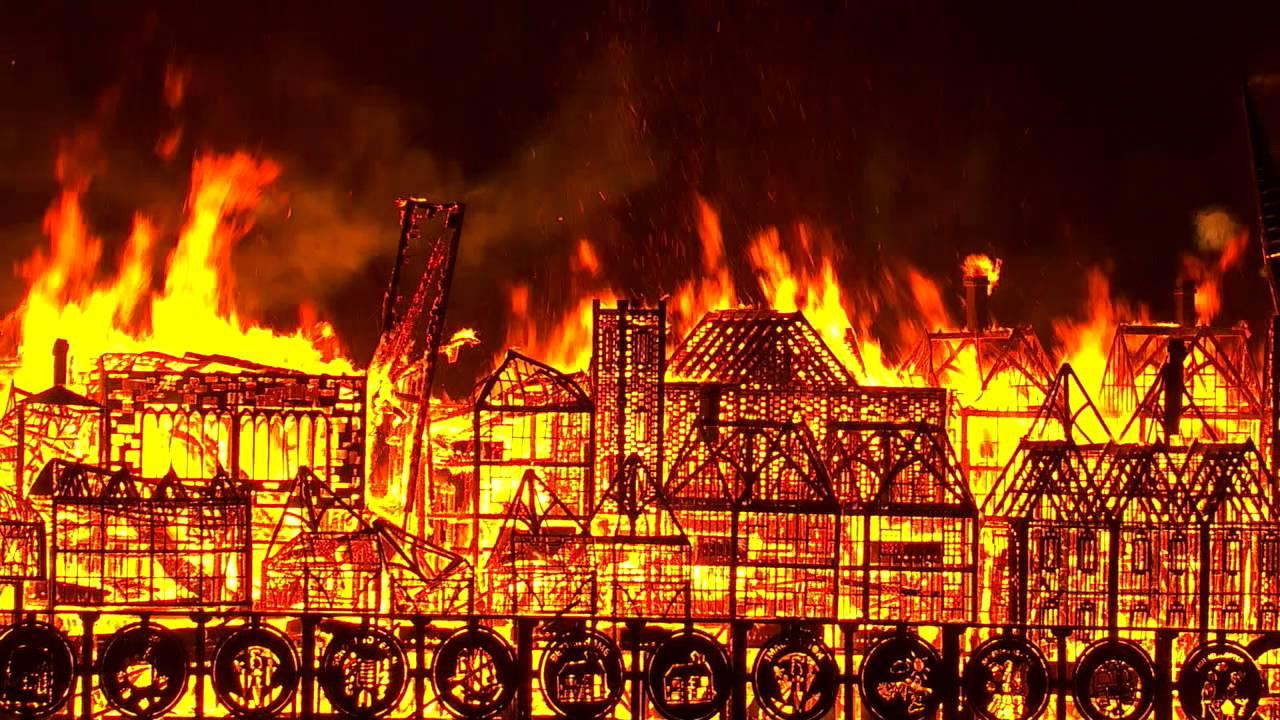 Building Burning Down London