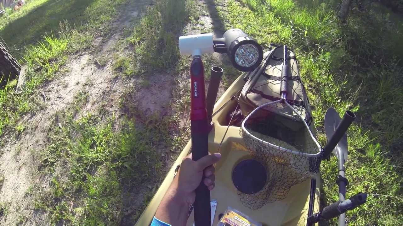 how to setup lights for night kayak fishing - galveston causeway, Reel Combo
