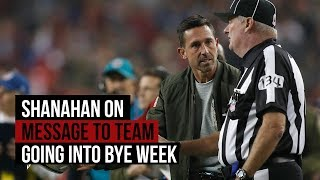 49ers' Kyle Shanahan on message to team going into bye thumbnail