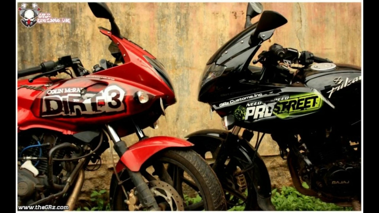 Best modified pulsar 220with graphicsstickersfairing designs