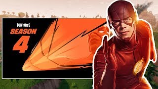 "NEW SEASON 4 ""SUPERHEROES"" THEME! Fortnite the Flash ""Season 4 Battle Pass"" Theme!"