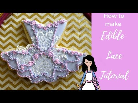 How to make edible lace tutorial,