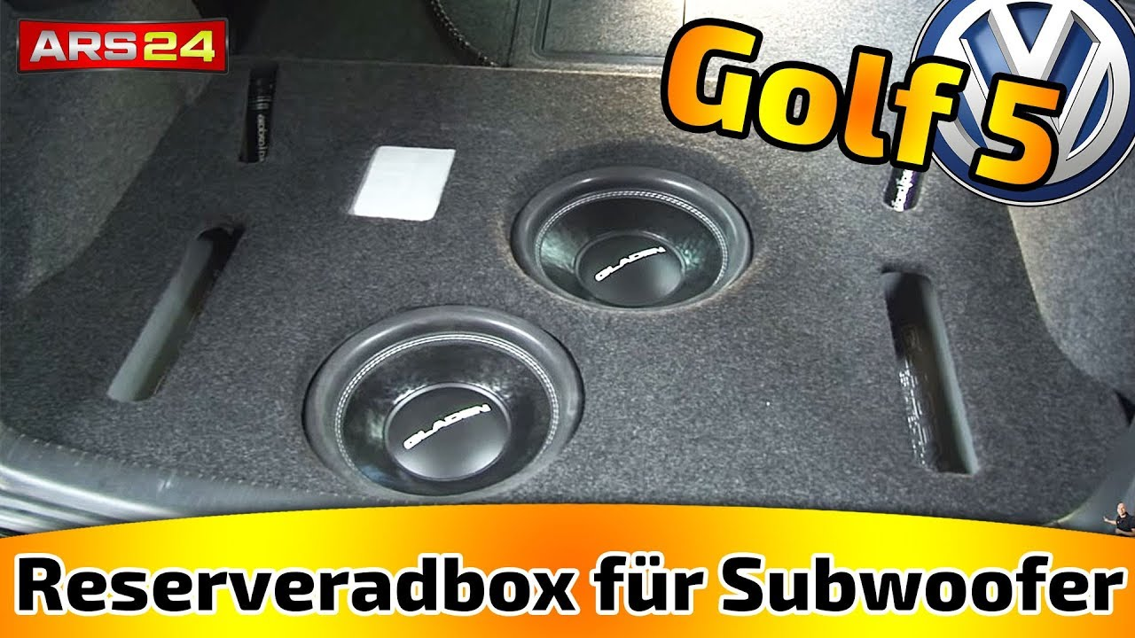 reserveradbox f r subwoofer im kofferraum selber bauen tutorial youtube. Black Bedroom Furniture Sets. Home Design Ideas
