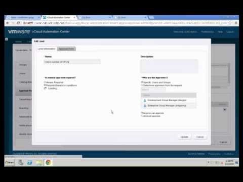 VMware vCAC 6.0 - Basic Approval Policies by Yves Sandfort