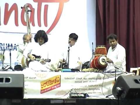 Unnati concert at Odukathur Mutt, Bangalore 2015 -- clip - 4