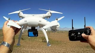 JJRC HY-90 Cheap GPS GoPro Lifting Drone Flight Test Review