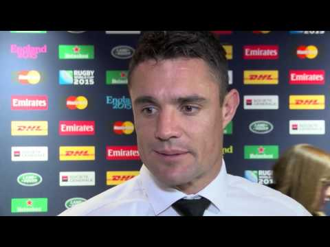 Dan Carter speaks after French match