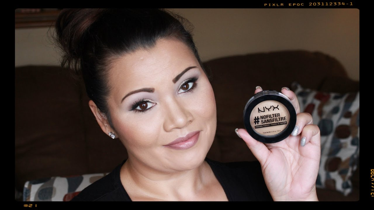 NEW NYX #NoFilter Finishing Powder Review - YouTube
