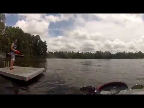 Diving off a Jet Ski to Catch a Frisbee