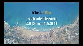 Dji Mavic Pro Record Altitude in 4K @ 2.018m - 6.620ft - Stock Hardware