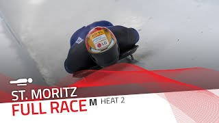St. Moritz | BMW IBSF World Cup 2020/2021 - Men's Skeleton Heat 2 | IBSF Official