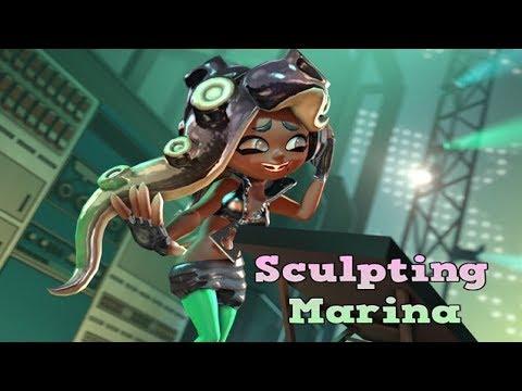 DIY Speed Sculpting Splatoon 2 Marina (part 10)