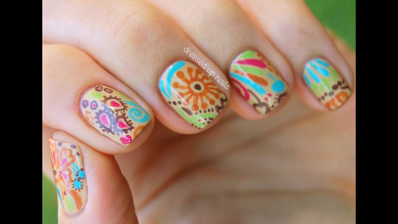 Nail art designs step by step at home easy nail art designs for beginners nail art youtube - Easy nail design ideas to do at home ...