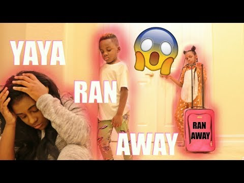 YAYA Running Away Prank On Mom