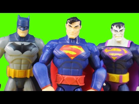 Total Heroes Detective Batman Superman Vs. Mr. Freeze & Bizarro Also With Batmobile