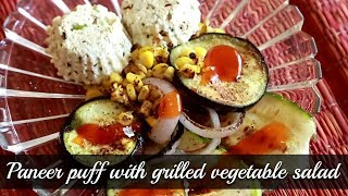 Paneer Puff With Grilled Vegetable Salad - Easy Snack Recipe - Rajshri Rewinds - Annuradha Toshniwal