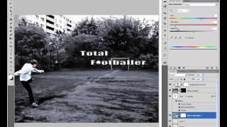 Photoshop: het maken van een voetbal poster