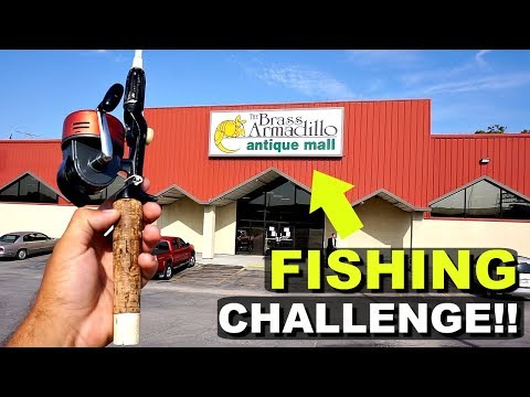 $40 Antique Store Fishing Challenge!! (Crazy Find!)