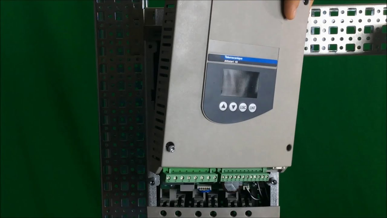 soft starter wiring diagram schneider motorguide trolling motor parts removing front cover control board of altistart 48