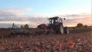 New Holland TM 135 ~ Die letzte Pfurche 2012 - Endspurt Pflügen in HD