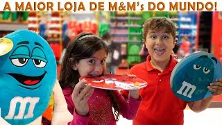 MARIA CLARA E JP NA MAIOR LOJA DE M&M's DO MUNDO!