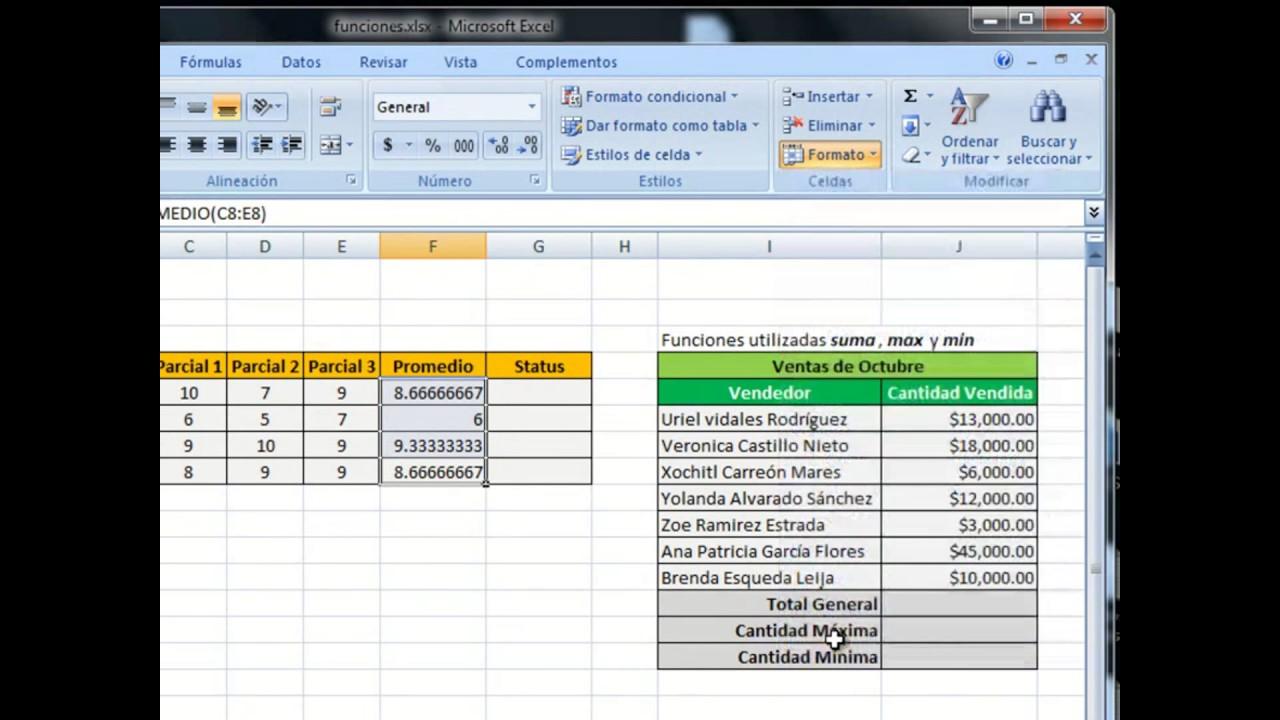 ??Funciones y Fórmulas Principales en Excel   En Español 20