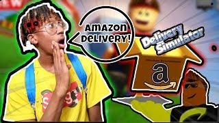 AMAZON DELIVERY IN ROBLOX! - Roblox Delivery Simulator