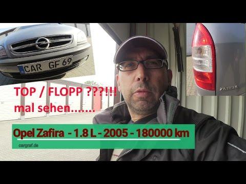 Opel Zafira - 1.8L - EZ 2005 -180000 Km - Gebrauchtwagencheck - Probleme - Probefahrt