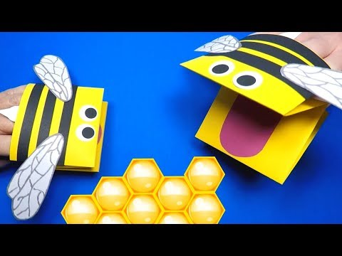 how-to-make-a-paper-bee-puppet-|-paper-crafts-for-kids