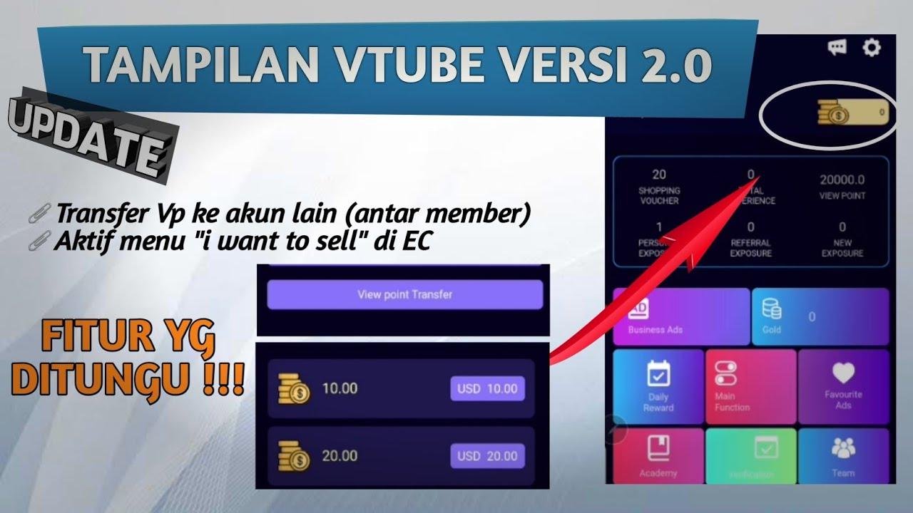 Tampilan Vtube Terbaru Versi 2 0 Bisa Kirim Vp Ke Member Lain Youtube