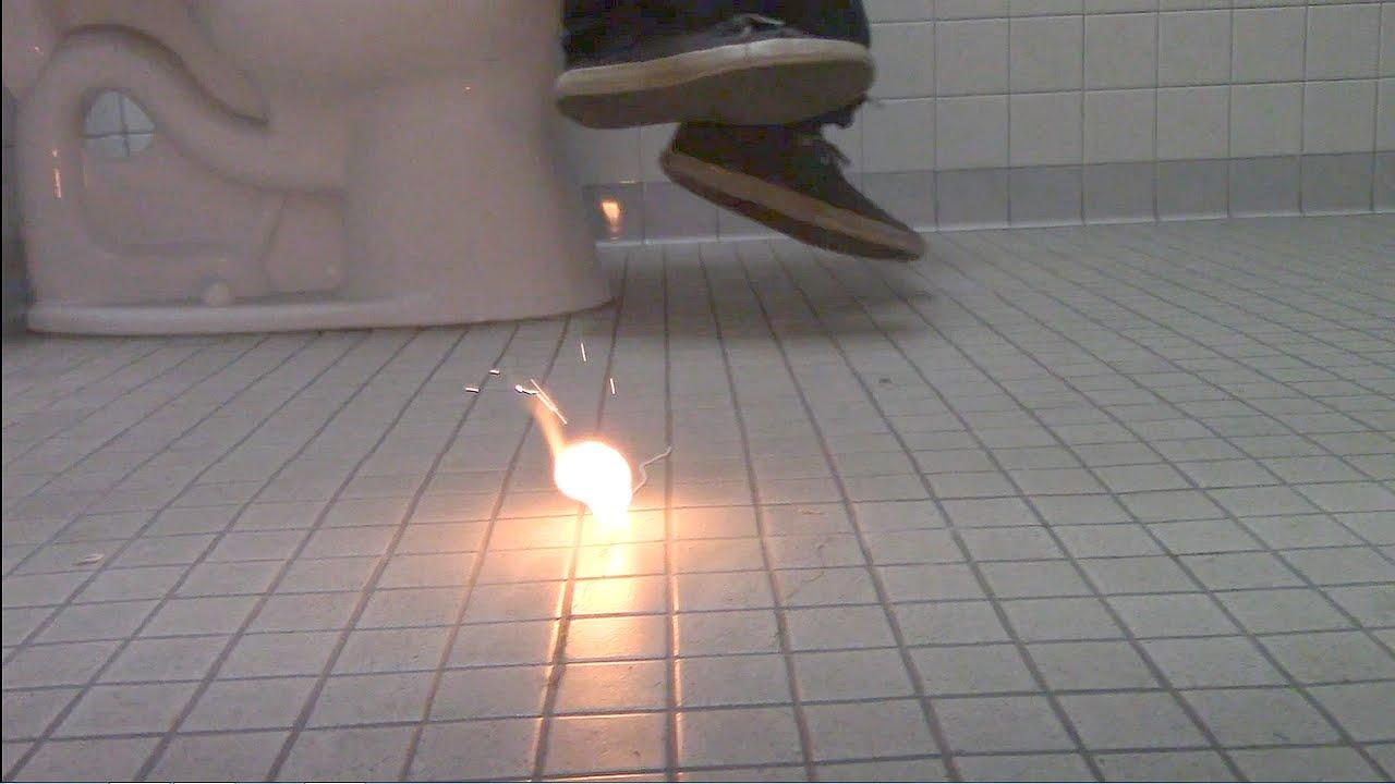 Bathroom Sign Prank bathroom prank-fire ball bathroom prank! - youtube