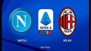 Napoli vs Milan en vivo, serie A