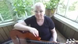 Играть на гитаре испанский танец Малагенья