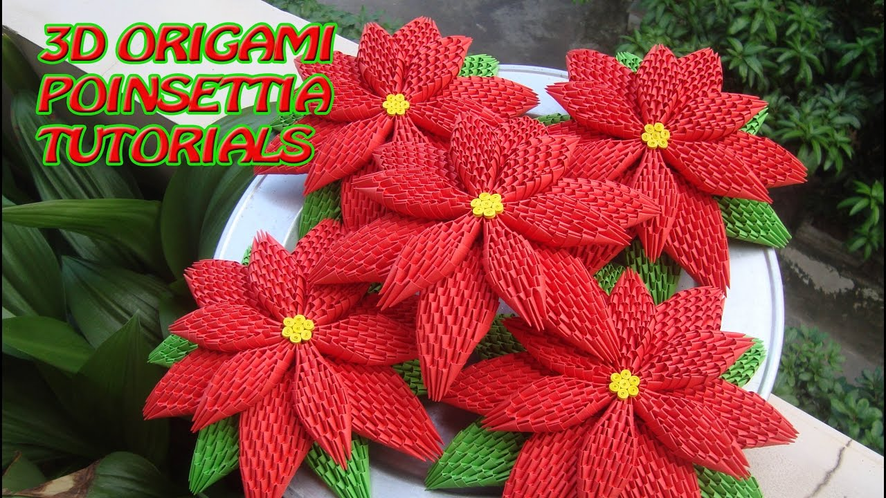 How to make 3d origami poinsettia diy poinsettia christmas how to make 3d origami poinsettia diy poinsettia christmas decoration tutorials mightylinksfo