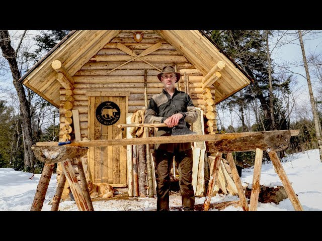 Mortise & Tenon Sawhorses at the Log Cabin, Is This Really Off Grid Living?