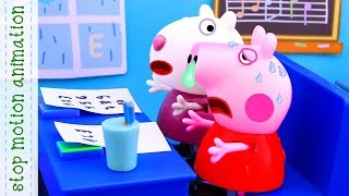 Peppa felt ill Peppa Pig toys Stop motion animation new episodes 2018