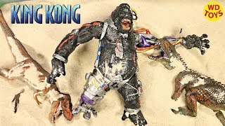 New Dinosaur Surprise Toys Buried in Sand Cyborg King Kong  Dinosaur Toy Jurassic Park Dino Unboxing
