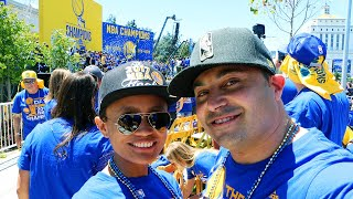 Golden State Warriors Parade 2017 - 4k - Walking In The Championship Parade