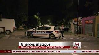 Tiroteo en Francia deja 8 heridos
