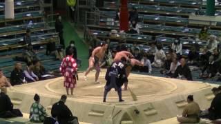 幻の技『送り掛け』が炸裂!!/神嶽-翠富士/2017.3.20/shingaku-midorifuji/day9 #sumo