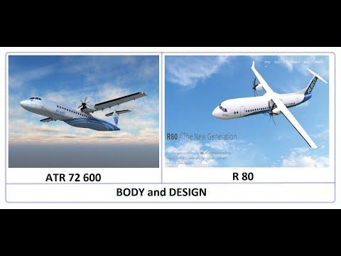 Propeller Plane R80 vs ATR 72 comparison